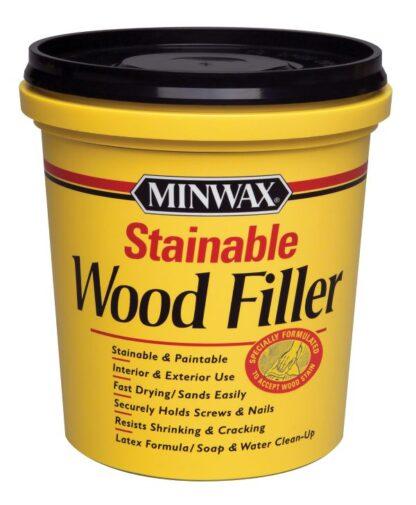 Szpachla do naprawy drewna Minwax Stainable Wood Filler, naprawia dziury po gwoździach, śrubkach, pęknięcia, nierówności