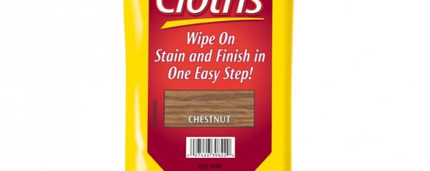 Ściereczki do malowania drewna Minwax® Wood Finishing Cloths.